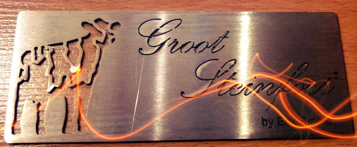 Laser gesneden name tag